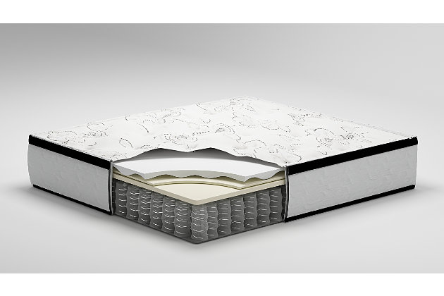Chime 12 Inch Hybrid Mattress with Adjustable Base, White, large