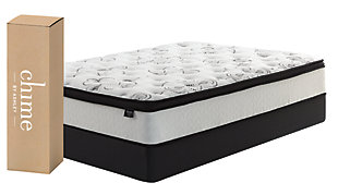 Chime 12 Inch Hybrid Queen Mattress in a Box, White, large