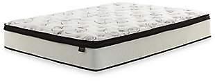 "12"" Queen Hybrid Mattress with Power Base, White, large"