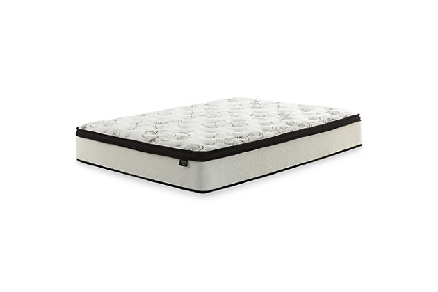 "Dolante King Upholstered Bed with 12"" Hybrid Mattress in a Box, Gray, large"
