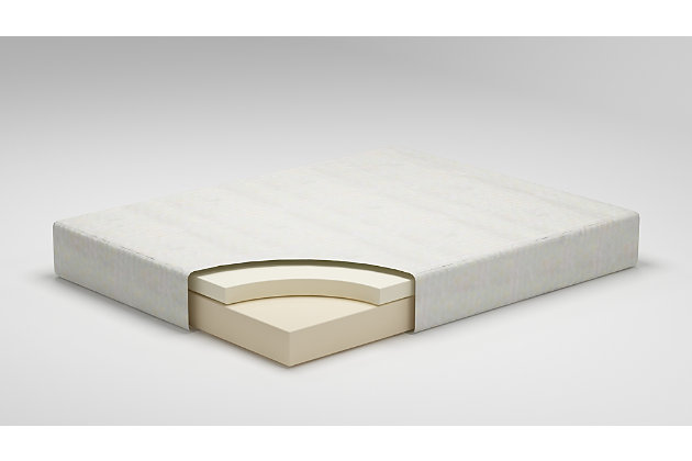 10 Inch Chime Memory Foam Twin Mattress in a Box, White, large
