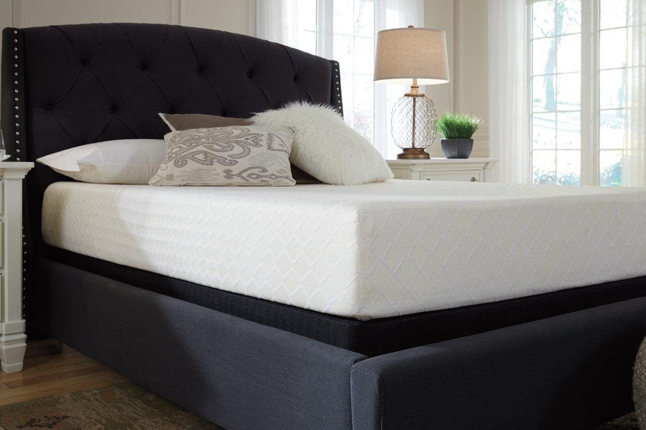 10 inch chime memory foam twin mattress ashley furniture homestore