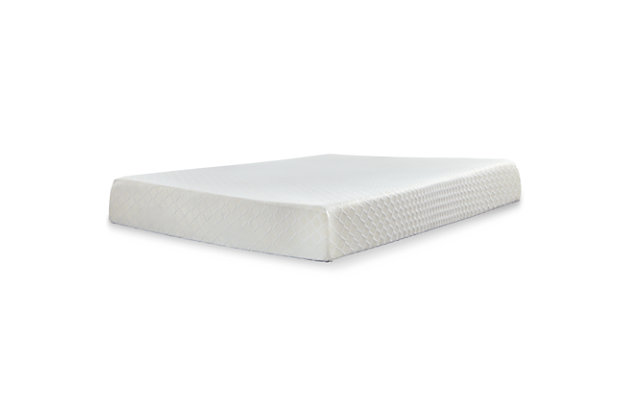 "10"" Queen Memory Foam Mattress with Power Base, White, large"