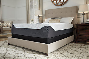 14 Inch Chime Elite Queen Mattress, White/Blue, large