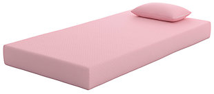 iKidz Pink Twin Mattress and Pillow, Pink, large