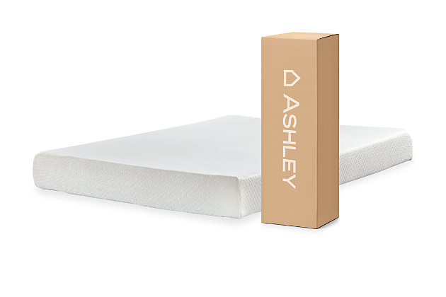 Chime 8 Inch Memory Foam Twin Mattress, White, large