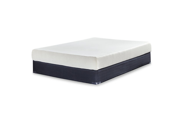 Chime 8 Inch Memory Foam Queen Mattress in a Box, White, large
