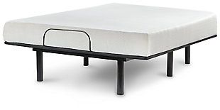 Chime 8 Inch Memory Foam Mattress with Adjustable Base, White, rollover