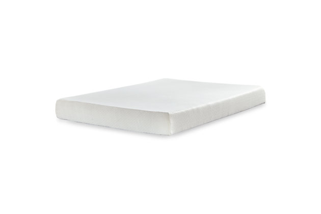 Chime 8 Inch Memory Foam Mattress with Adjustable Base, White, large