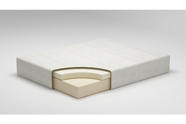 Chime 12 Inch Memory Foam Queen Mattress in a Box, White, large