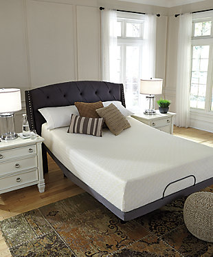 Chime 12 Inch Memory Foam Twin Mattress, White, large