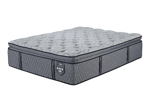 Napa Valley Firm Pillowtop Queen Mattress, Light Gray, large