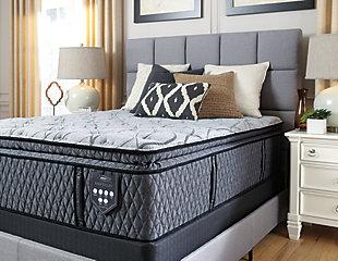 Napa Valley Plush Pillowtop Queen Mattress, Light Gray, large