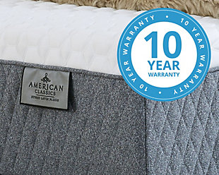 American Classic Plush Latex Hybrid Queen Mattress, White, large
