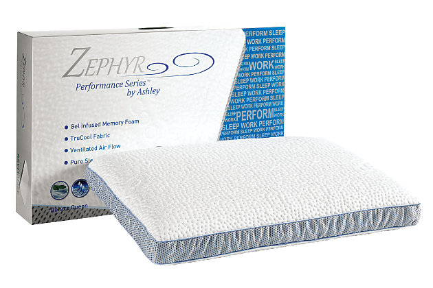 Zephyr Revitalize Ventilated Bed Pillow, , large