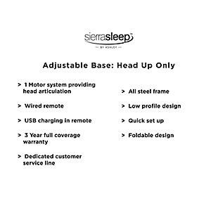 Adjustable Head Queen Base, Black, large