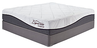 12 Inch Respond Series Memory Foam Twin Mattress, White, large