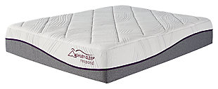 14 Inch Respond Series Memory Foam Queen Mattress, White, large