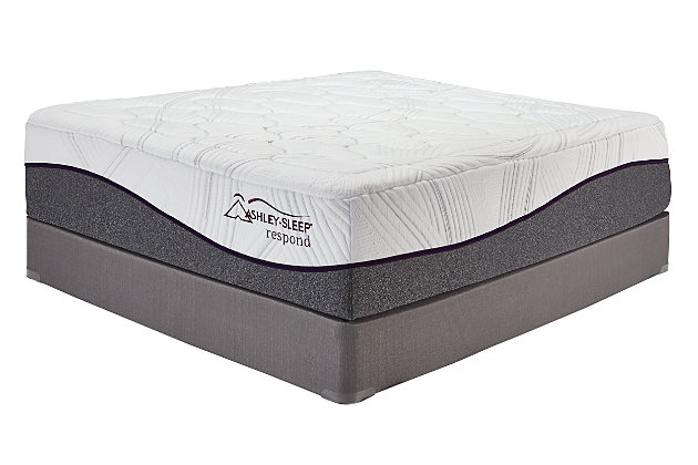 16 Inch Respond Series Memory Foam Queen Mattress, White, large