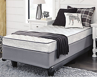6 Inch Bonell Twin Mattress, White, rollover