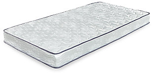 6 Inch Bonell Twin Mattress, White, large