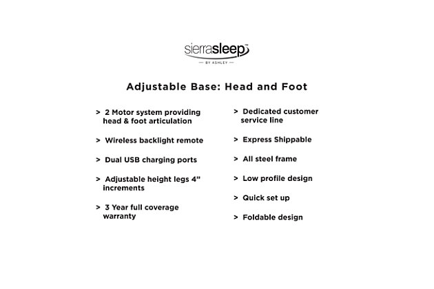 Head-Foot Model-Good Queen Adjustable Base, Black, large