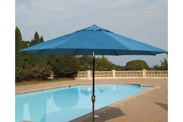 Umbrella Accessories Patio Umbrella by Ashley HomeStore, Blue & Tan