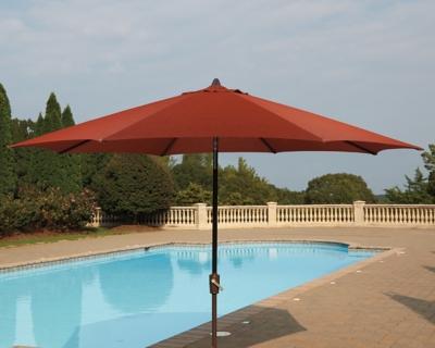 Ashley Umbrella Accessories Patio Umbrella, Burnt Orange
