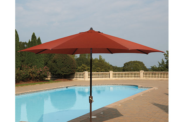 Umbrella Accessories Patio Umbrella by Ashley HomeStore, Orange