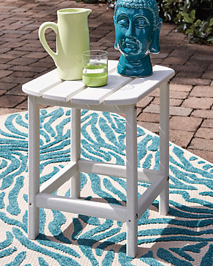 Sundown Treasure End Table, White, rollover