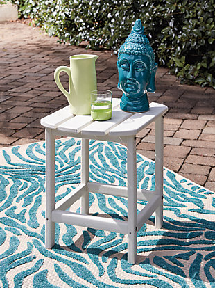 Sundown Treasure End Table, White, large