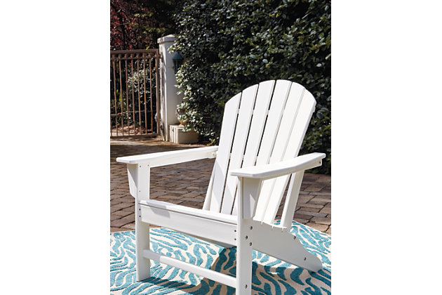 Sundown Treasure Adirondack Chair, White, large