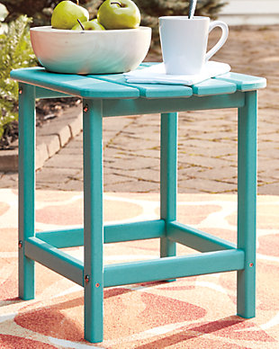 Sundown Treasure End Table, Turquoise, rollover