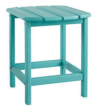 Sundown Treasure End Table, Turquoise, large