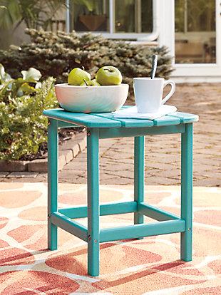 Sundown Treasure End Table, Turquoise, large