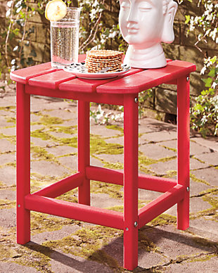 Sundown Treasure End Table, Red, rollover
