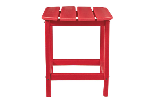 Sundown Treasure End Table, Red, large