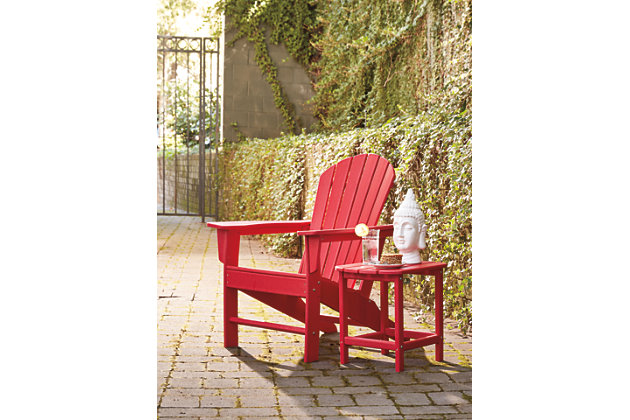Sundown Treasure Adirondack Chair, Red, large