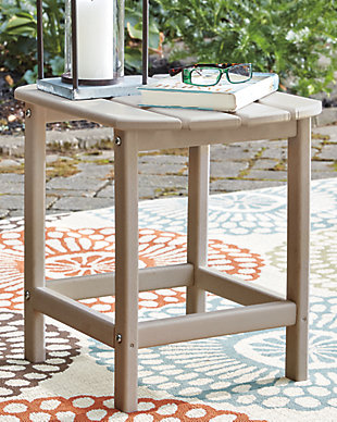 Sundown Treasure End Table, Grayish Brown, rollover
