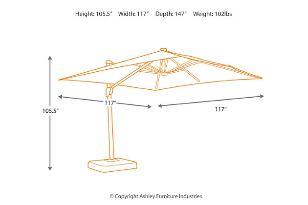 Oakengrove Patio Umbrella, , large