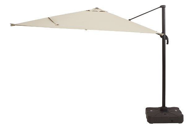 Devra Bay 2-Piece 11' Octagonal Tilt Umbrella Set, , large