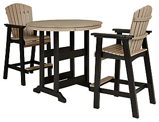 Fairen Trail Outdoor Bar Table and 2 Barstools, , large