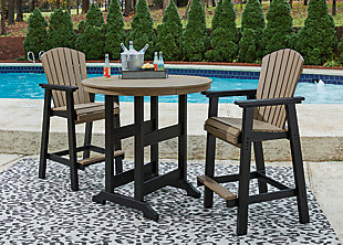 Fairen Trail Outdoor Bar Table and 2 Barstools, , rollover