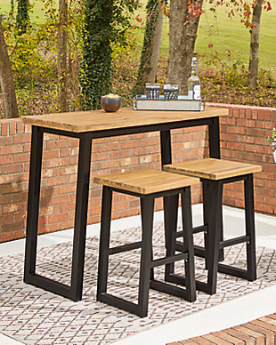 Town Wood Outdoor Counter Table Set (Set of 3), , rollover