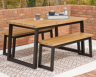 Town Wood Outdoor Dining Table Set (Set of 3), , rollover
