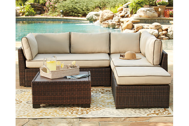 Loughran 4 Piece Outdoor Sectional Set Large