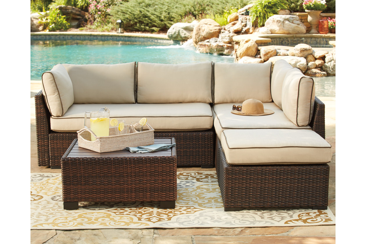 Loughran 4-piece Outdoor Sectional Set | Ashley Furniture HomeStore