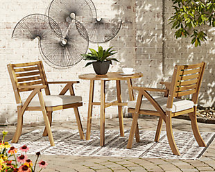 Vallerie Outdoor Chairs with Table Set (Set of 3), , rollover