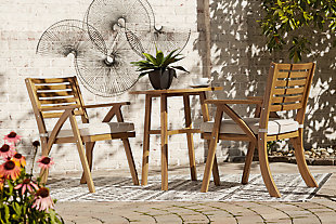 Vallerie Outdoor Chairs with Table Set (Set of 3), , large
