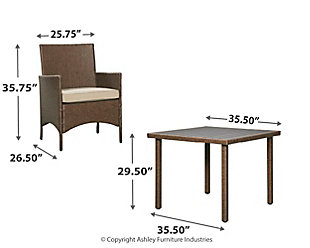 Reedenhurst 3-Piece Dining Table Set, , large